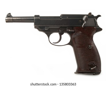 vintage gun isolated on white background