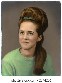 vintage hand-colored high school photo