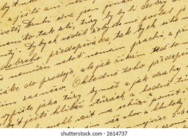 Vintage handwriting from old letter