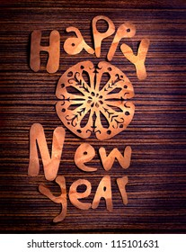 Vintage Happy New Year background.Happy New Year lettering.