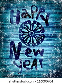 Vintage Happy New Year background/Happy New Year lettering/ christmas background