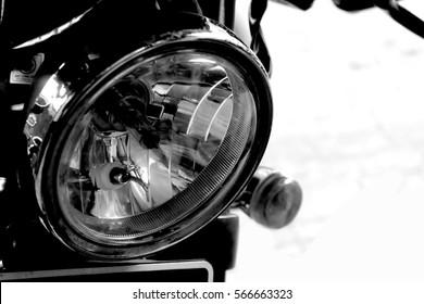 vintage headlamp motorcycle