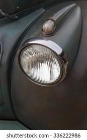 Vintage headlight US classic car