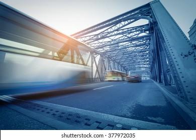 Vintage heavy metal bridge construction.