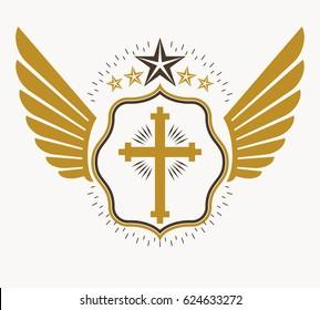 Vintage heraldry design template, emblem.