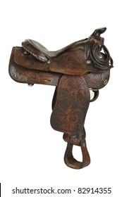 Vintage Horse Saddle - Isolated