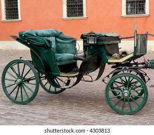 Vintage horsecart in Stare Miasto Warsaw