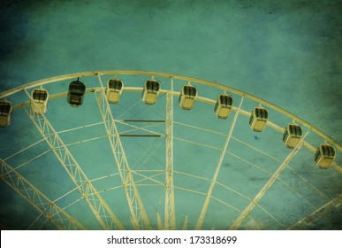 Vintage image of happy memories of Joyful  Ferris Wheel at a Carnival