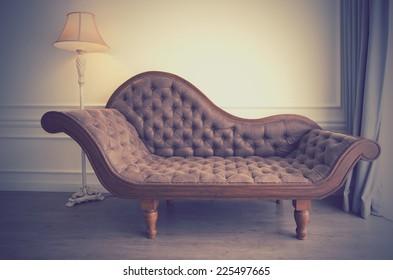Vintage image of sofa as retro feeling