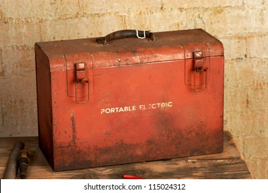 vintage industrial tool box