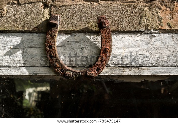 Vintage iron horseshoe