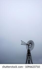 Vintage iron windmill