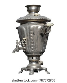 Vintage isolated electrical samovar kettle