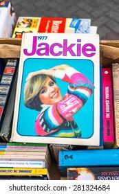 Vintage Jackie annual 1977. Bookshop find Morecambe Lancashire England 24.5.15