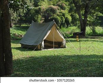 Vintage japan canvas tent for hiking