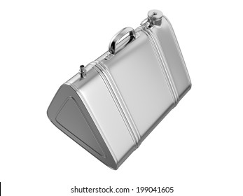 Vintage Jerrycan on white background. 3D image