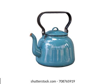 Vintage kettle isolated on white background