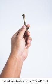 vintage key in hand