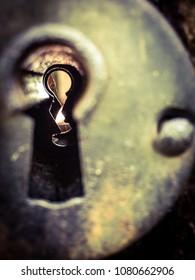 Vintage Keyhole Closeup