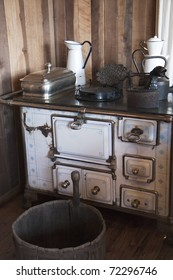 Vintage kitchen - stove and pots