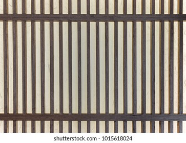 Vintage Korean wall. It is made of translucent paper over a lattice of wood.