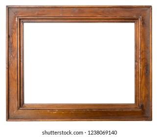 Vintage lacquered Mockup photo frame isolated on white background.