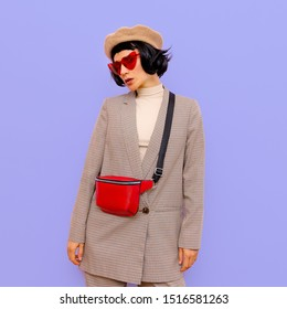 Vintage Lady Chic Parisian style. Fashion autumn clothes and accessories