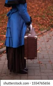vintage lady went on a journey