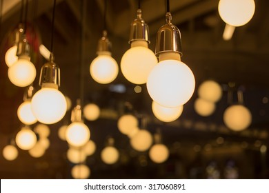 vintage lamp, bulb decorative in home