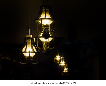 vintage lamp decorative in home
