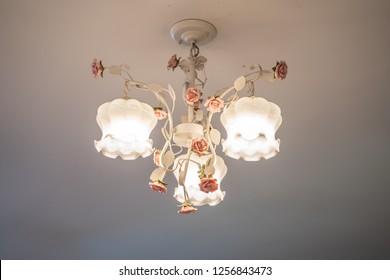 Vintage lamp at home