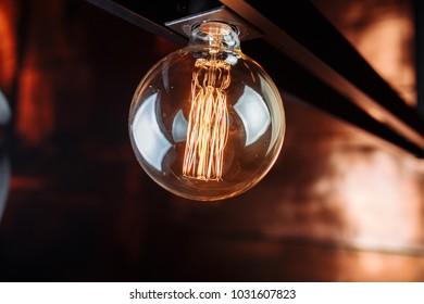 vintage lamp in restraunt
