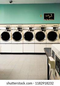 Vintage Laundromat Dryers