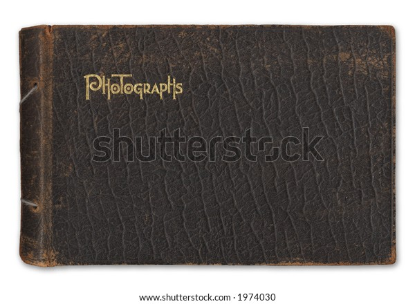 Vintage Leatherbound Photograph Album Isolated On Stock