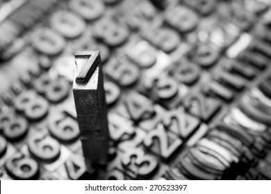 vintage letterpress  number background