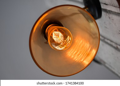 Vintage light bulb decorative in home.
