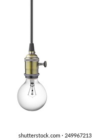 Vintage light bulb isolated on white background