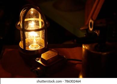 Vintage light and warm mood lamp.