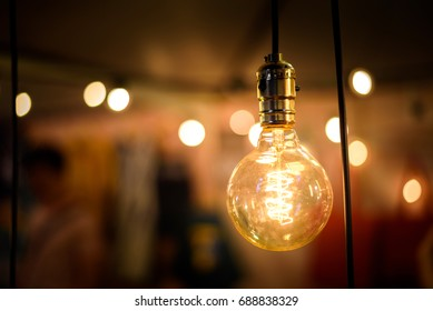 Vintage lighting Bulb decor , Incandescent Lamp Retro style