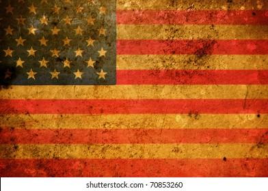 Vintage look United States Flag