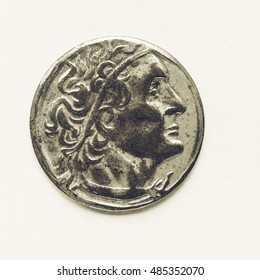 Vintage looking Ancient Greek coin from Greece