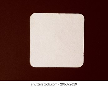 Vintage looking Blank cardboard beermat for a pint of beer