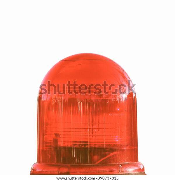 Vintage Looking Coloured Led Strobe Rotating Stock Photo