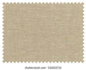 Vintage looking A fabric sample isolated over white background
