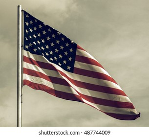 Vintage looking Flag of the USA (United States of America)