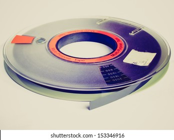 Vintage looking Magnetic tape reel for computer data storage