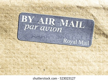 Vintage looking Postage letter envelope for air mail shipping