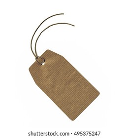 Vintage looking Price tag or address label with string