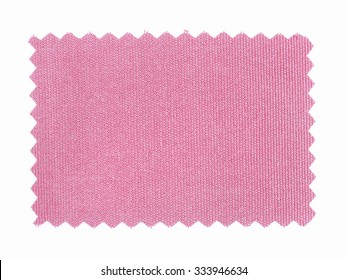 Vintage looking Purple Fabric swatch with zig zag border cut with pinking shears