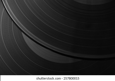 Vintage looking Vinyl record music recording support - music background